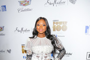 Naturi Naughton Sheer Dress