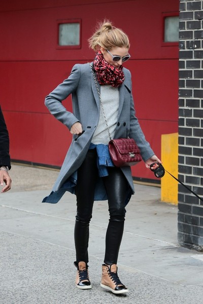 05a4c28a5a1 More Pics of Olivia Palermo Leather Sneakers (4 of 7) - Olivia Palermo  Lookbook - StyleBistro