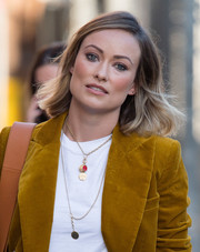 Olivia Wilde looked cute and youthful with her short side-parted 'do while visiting 'Kimmel.'