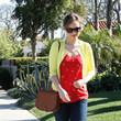 Olivia Wilde in red and yellow