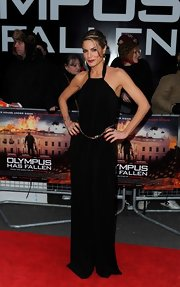 Charlotte Jackson rocked a '70s-style halter jumpsuit, complete with chain belt and all.