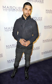 Wilmer Valderama puulled off a hot ensemble featuring a pair of biker boots at a party in Marquee.