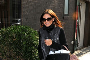 Olivia Palermo goes shopping at the 25 Park boutique in the Meatpacking District.