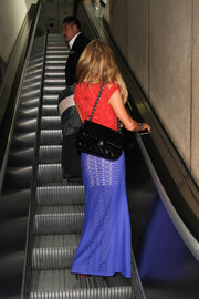 Paris Hilton arrived on a flight at LAX carrying a classic Chanel quilted bag.