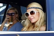 Paris Hilton went for a hippie vibe in this beaded headband.