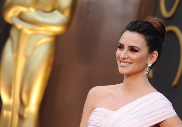 Penelope Cruz Diamond Chandelier Earrings