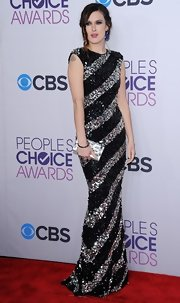 Rumer Willis made a unique statement on the red carpet in this sequined striped gown.
