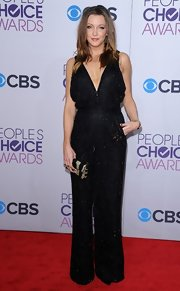Katie Cassidy was all about the bedazzled jumpsuit in this statement number on the People's Choice Awards red carpet.