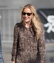 Piper Perabo kept the sun out with a pair of wayfarers while making her way to 'Kimmel.'