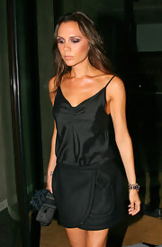 Victoria Beckham arrived at  Gordon Ramsay's restaurant Maze wearing a rose gold and diamond spike bracelet.