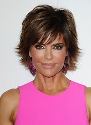 Lisa Rinna attended the QVC Red Carpet Style Event wearing her hair in a sexy layered 'do.