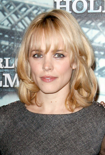 Rachel McAdams Medium Wavy Cut with Bangs. The born again blonde ditches her