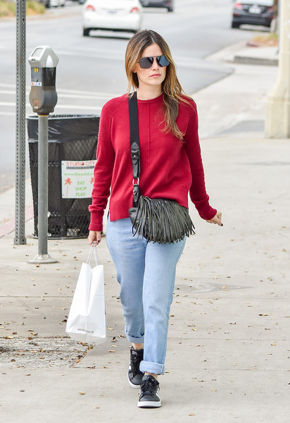 More Pics of Rachel Bilson Leather Sneakers (3 of 9) - Athletic Shoes Lookbook - StyleBistro []