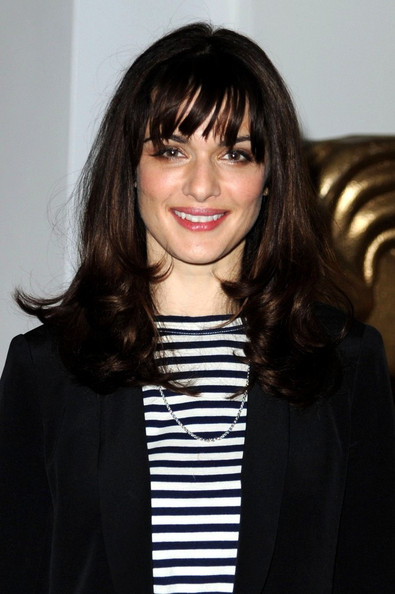 Rachel Weisz Long Wavy Cut with Bangs