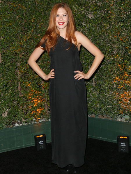 Rachelle Lefevre One Shoulder Dress