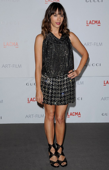 Rashida Jones Beaded Dress []