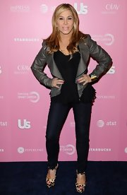 Adrienne Maloof exuded a youthful vibe in her black skinny jeans.