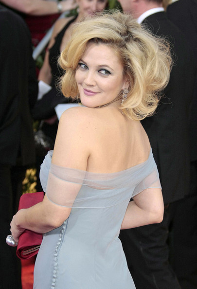 More Pics of Drew Barrymore Curled Out Bob (4 of 5) - Drew Barrymore Lookbook - StyleBistro