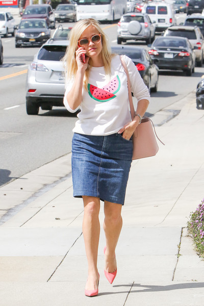 Reese Witherspoon Denim Skirt
