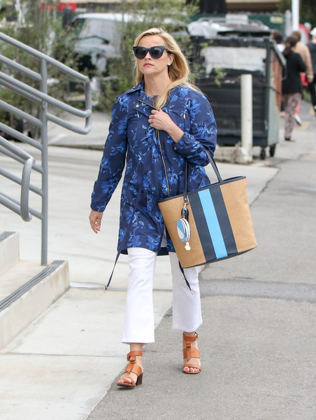 Reese Witherspoon Printed Coat []