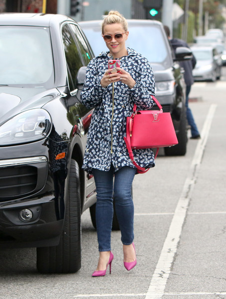 Reese Witherspoon Printed Coat