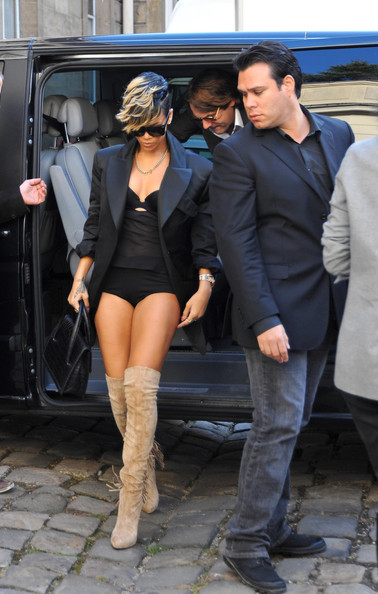 rihanna underwear photos. Rihanna arrives at Vivienne