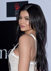 Kylie Jenner sported a long side-parted 'do with subtle waves at the Diamond Ball.