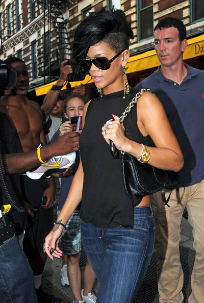 Rihanna Leather Shoulder Bag