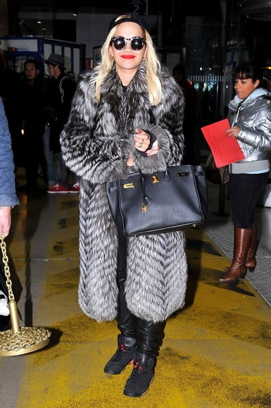 Rita Ora Fur Coat