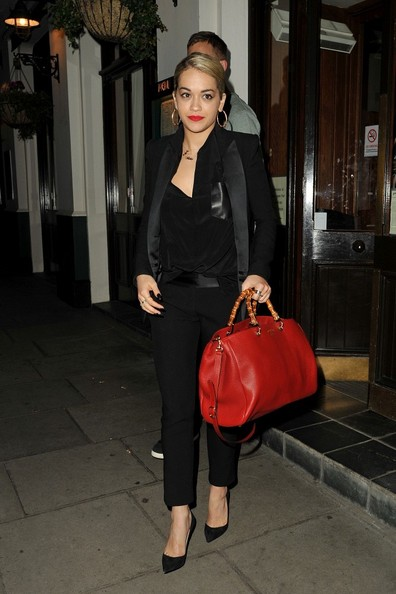 Rita Ora Leather Tote