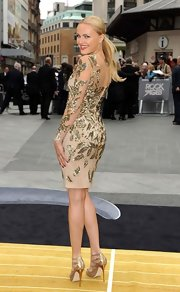 Malin's gold leaf dress at the London premiere of 'Rock of Ages' was a total hit.