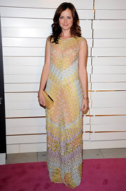 Alexis Bledel wore a pastel knit gown for the Rodeo Drive Walk of Style Award.