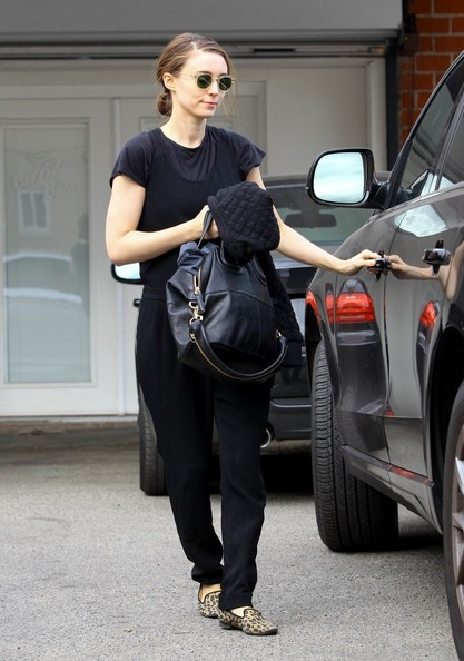Rooney Mara Leather Tote