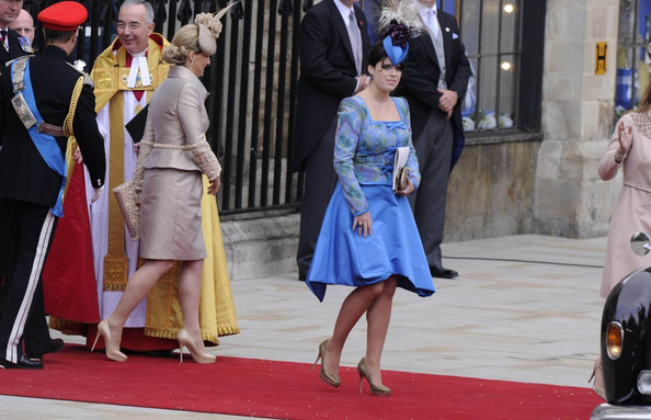 Princess+Eugenie in Royal Wedding: Guests leave the Abbey