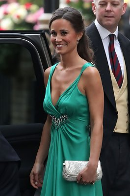 Pippa Middleton Is Elegant in Half Up Hairstyle