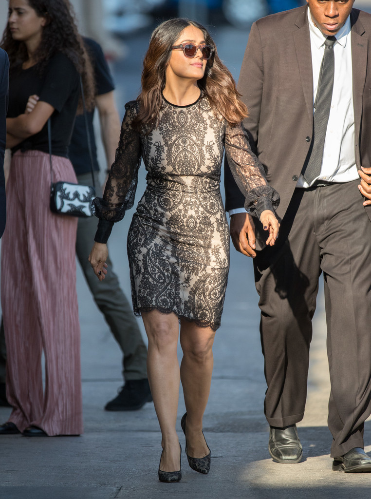 Salma Hayek Lace Dress - Fashion Lookbook - StyleBistro