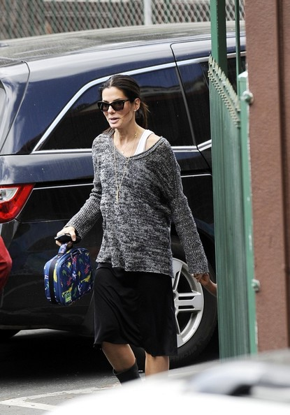 Sandra Bullock V-neck Sweater