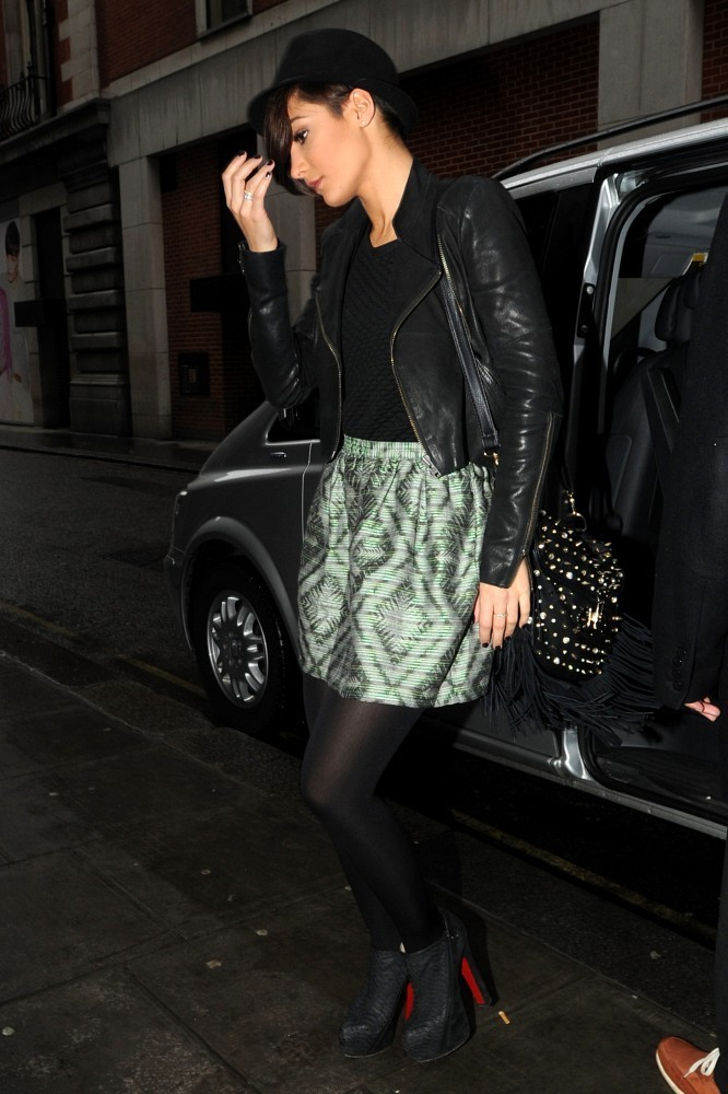 The Saturdays Arrive at BBC Radio 1 Studios