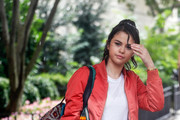 Selena Gomez Leather Sneakers