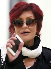 Sharon Osbourne donned a pair of cateye sunglasses in Sydney.
