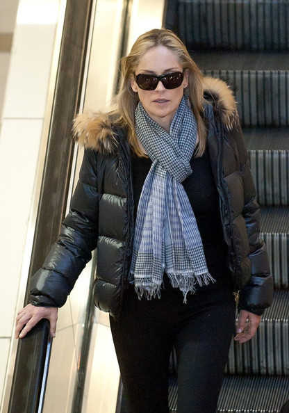 Sharon Stone Patterned Scarf