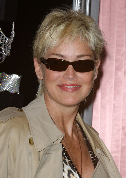Sharon Stone Messy Cut []