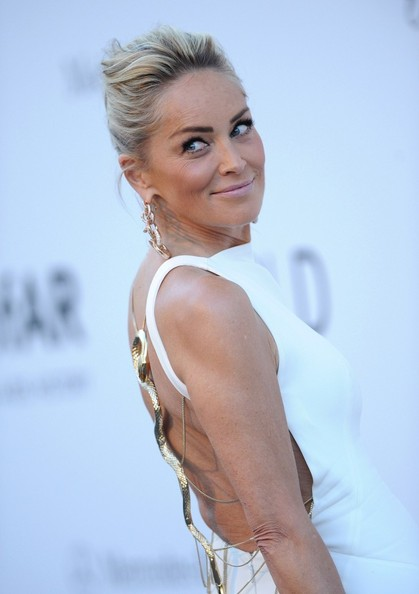 Sharon Stone Twisted Bun