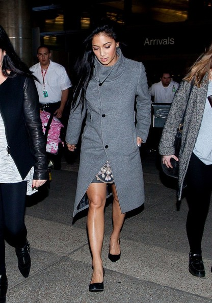 More Pics of Nicole Scherzinger Wool Coat (4 of 16) - Nicole Scherzinger Lookbook - StyleBistro