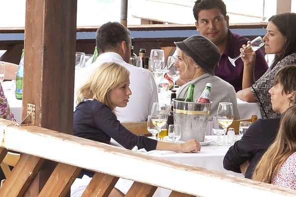 Sienna Miller and Balthazar Getty on a Boat in Positano