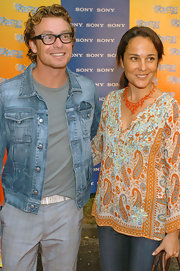 This bright paisley-print top gave Rebecca Rigg a relaxed, bohemian feel at the Sony Tropfest in Sydney.