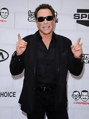 Jean-Claude Van Damme went for an edgy look with this all-black combo at the 2012 Guys' Choice Awards.