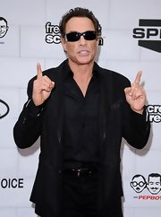 Jean-Claude Van Damme topped off his all-black attire with a pair of sunglasses at the 2012 Guys' Choice Awards.