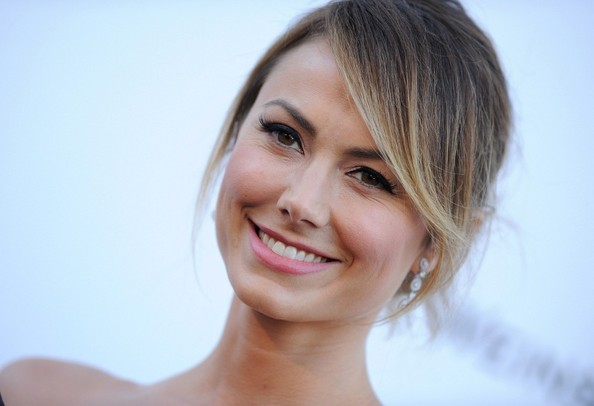 Stacy Keibler Bobby Pinned Updo