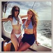 Christie Brinkley Goes Nautical at Sea